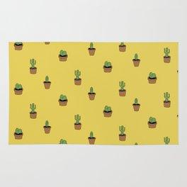 Cacti on yellow Rug