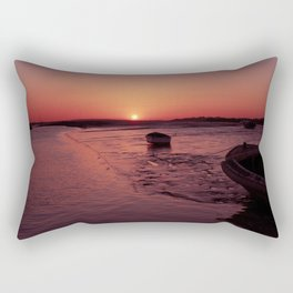 Sunset in the Estuary Rectangular Pillow