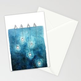 Fishing for Stars Stationery Cards