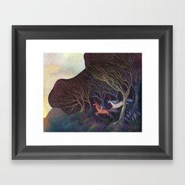 Adventures in the Dark Woods Framed Art Print