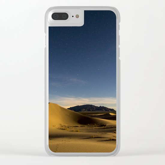 Sand Dunes & Night Sky Clear iPhone Case
