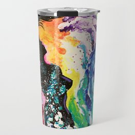 Mermaid in Waves Painting Travel Mug