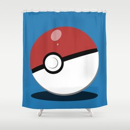 Pokéball Shower Curtain