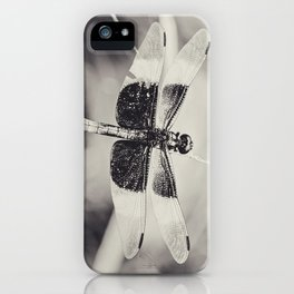 Dragonfly II mono iPhone Case