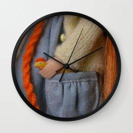 Little chicken - Doll #13 Wall Clock