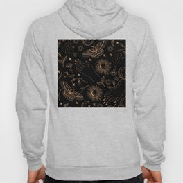 Hand drawn abstract flat graphic icon illustration sketch seamless esoteric pattern Hoody