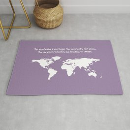 World Map with Dr. Seuss Quote Rug
