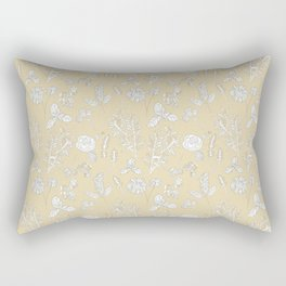 Plant Therapy Butter Yellow Rectangular Pillow