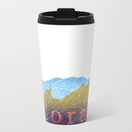 Colorado Mountain Ranges_Boulder Flat Irons + Continental Divide Metal Travel Mug
