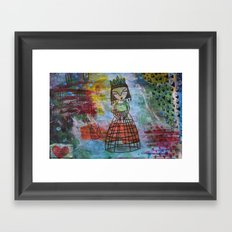 Birdcage Lady Framed Art Print