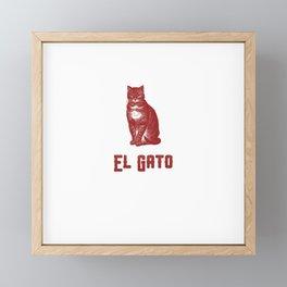 EL GATO Framed Mini Art Print