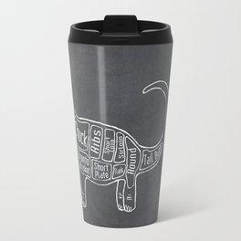 "Brontosaurus Dinosaurus (A.K.A Apatosaurus ""Big Cow"") Butcher Meat Diagram Travel Mug"