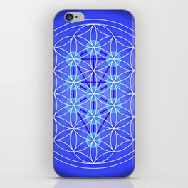 Flower Of Life - Blue iPhone Skin