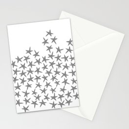 Falling Stars - Gray Stationery Cards