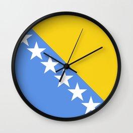 Flag of Bosnia and Herzegovina Wall Clock