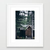 cabin Framed Art Prints featuring Cabin by Garrett Lockhart