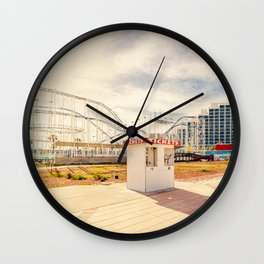 Abandoned Roller Coaster Daytona Florida Wall Clock