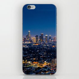 Los Angeles, California, I love LA Downtown Skyline, Golden lights, USA Sunset Blvd, Palms, Cali Map iPhone Skin