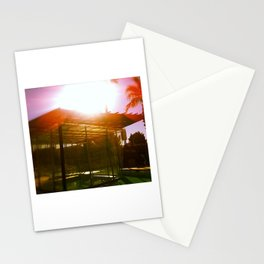 Pool House and Palms Stationery Cards