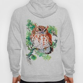 Your Best Friend Owl, woodland Owl art,, children illustration of OWL Hoody
