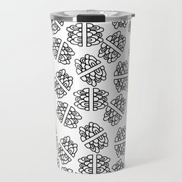 Abstract hand painted modern black geometrical pattern Travel Mug