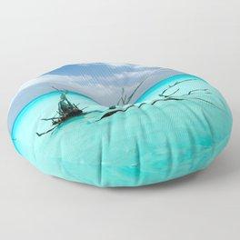 Driftwood in Lagoon Floor Pillow