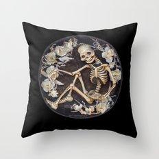 In Memoriam Skeleton  Throw Pillow