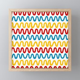 Bold Primary Waves Framed Mini Art Print