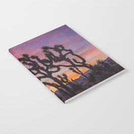 Colorful Sunset in Joshua Tree National Park Notebook
