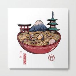 A Japanese Ramen Metal Print