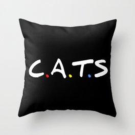 C.A.T.  F.R.I.E.N.D.S. Throw Pillow