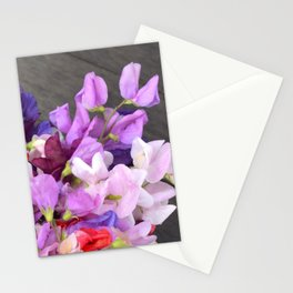 Sweet pea flowers Stationery Cards