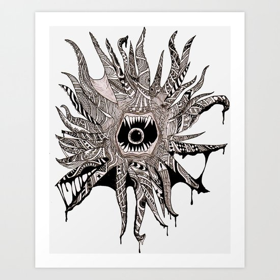 Ink'd Kraken Art Print