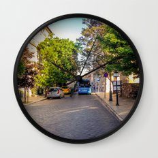 BUS IN BUDAPEST Wall Clock