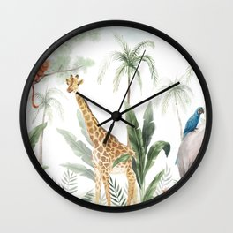 Clarice's Jungle Wall Clock