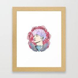 Roses for Jonghyun. Framed Art Print