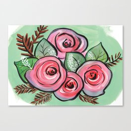 Roses for my Valentine Canvas Print