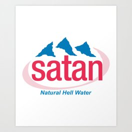 Natural Hell Water Art Print