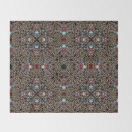 Persian-Style Motif (Premium Sun Crimson Gold Coleus) Throw Blanket