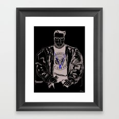 Lord WTF from Madrid is in da hause Framed Art Print