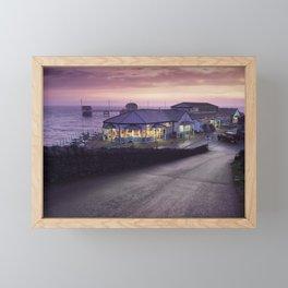 Mumbles Pier and Beach Hut Cafe Framed Mini Art Print