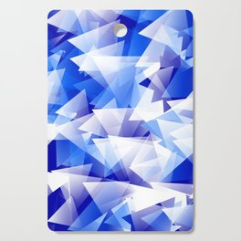 triangles in shades of blue Cutting Board