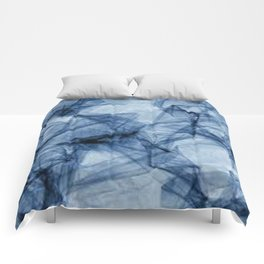 Fifty Shades of Shattered Blue Comforters