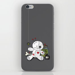 Voodoo doll shelf iPhone Skin
