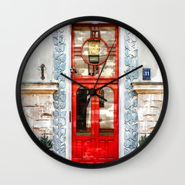 Vintage Old Door Latvia - For Doors & Travel Lovers Wall Clock
