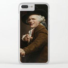 Joseph Ducreux - Guise Of A Mocker Clear iPhone Case