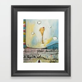 Brave The Rain Framed Art Print