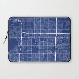 Tempe Map, USA - Blue Laptop Sleeve