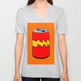 Red Orange & Yellow Cartoon Soda Can Colourful Simple Art Unisex V-Neck