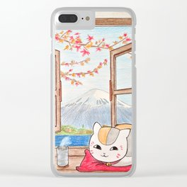 Nyanko-sensei (Natsume Yuujinchou) Clear iPhone Case
